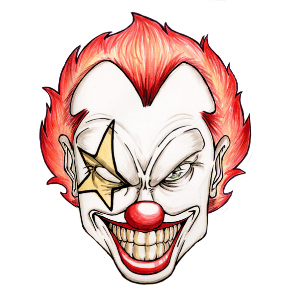 Scary Cartoon Clowns - Cliparts.co