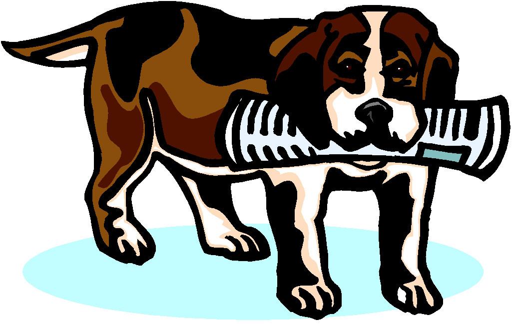 Dog bringing newspaper Graphics and Animated Gifs