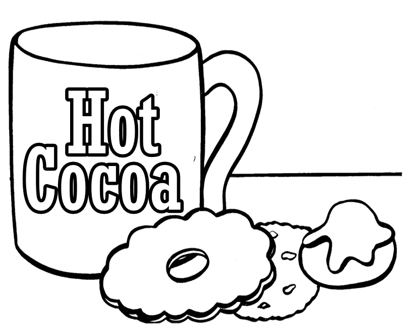 Chocolate hot cocoa coloring page sketch coloring page for Hot chocolate coloring page