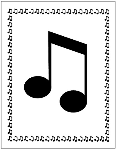 Music Notes Border - Cliparts.co