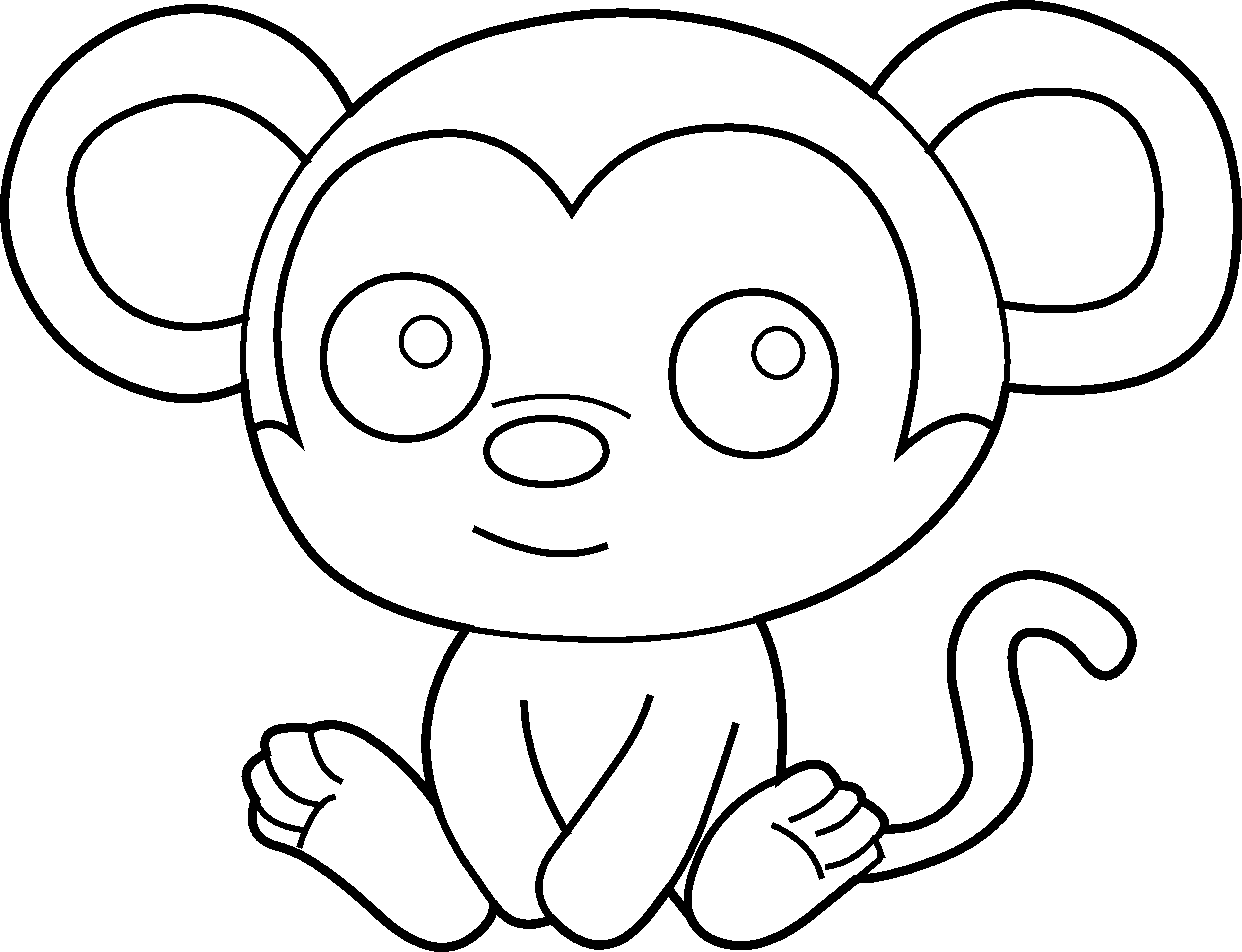 Free Baby Monkey Clip Art - Cliparts.co A Coloring Page