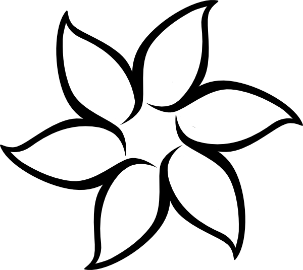 simple flower outline