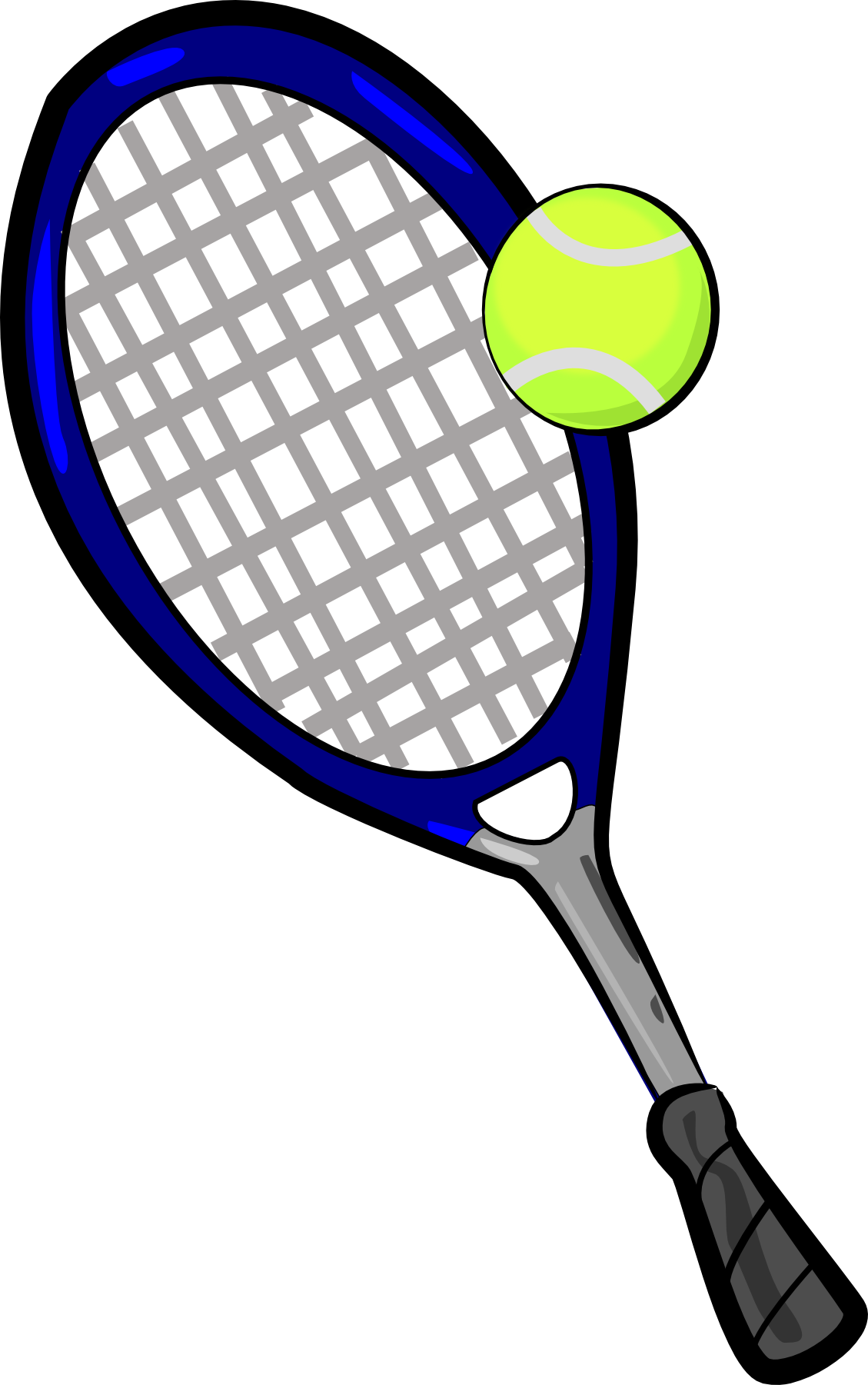 Images For > Tennis Racket And Ball Clip Art