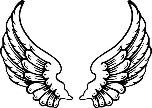 Angel Wings clip art - vector clip art online, royalty free ...