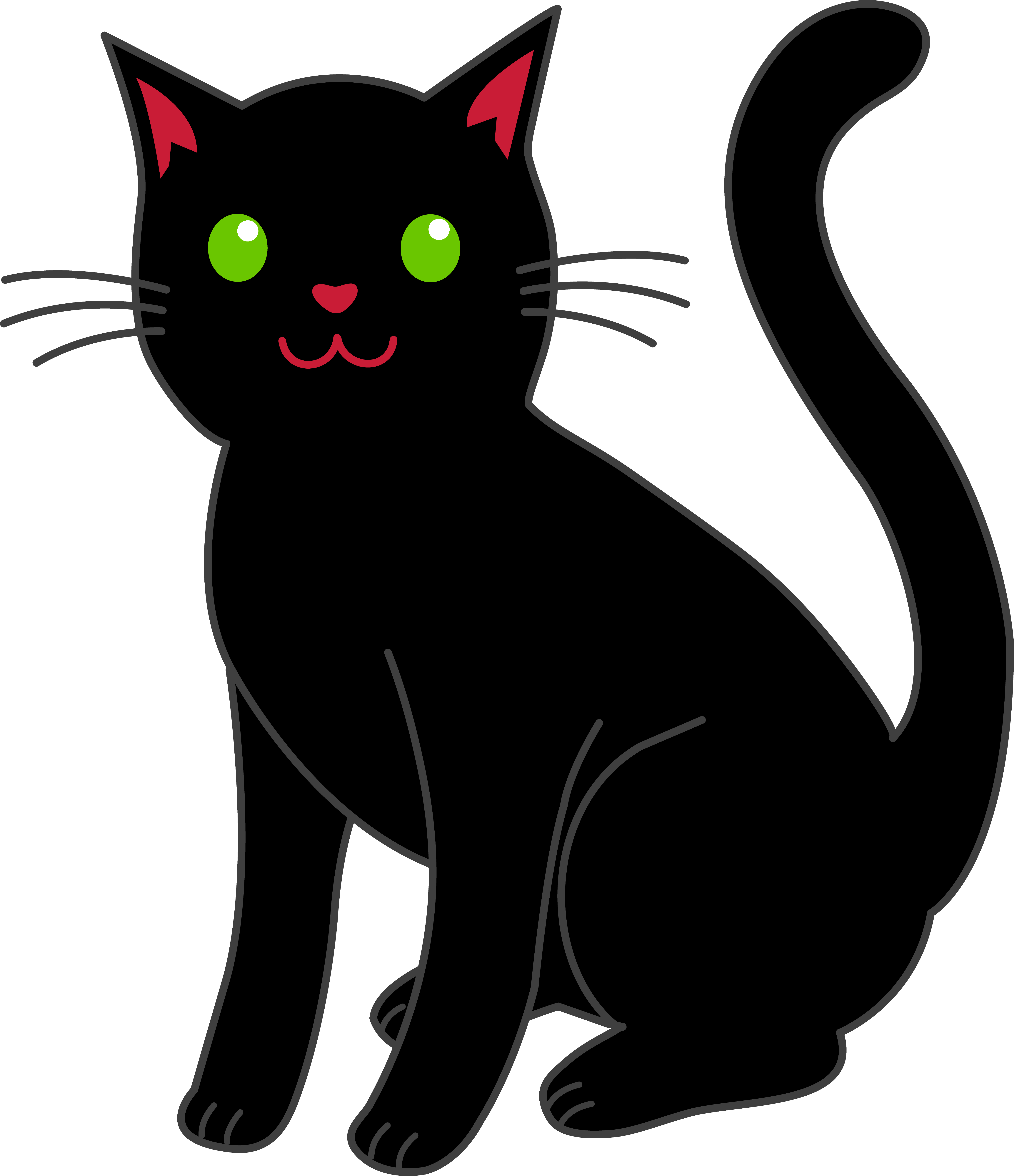 Black Cat Cartoon - Cliparts.co