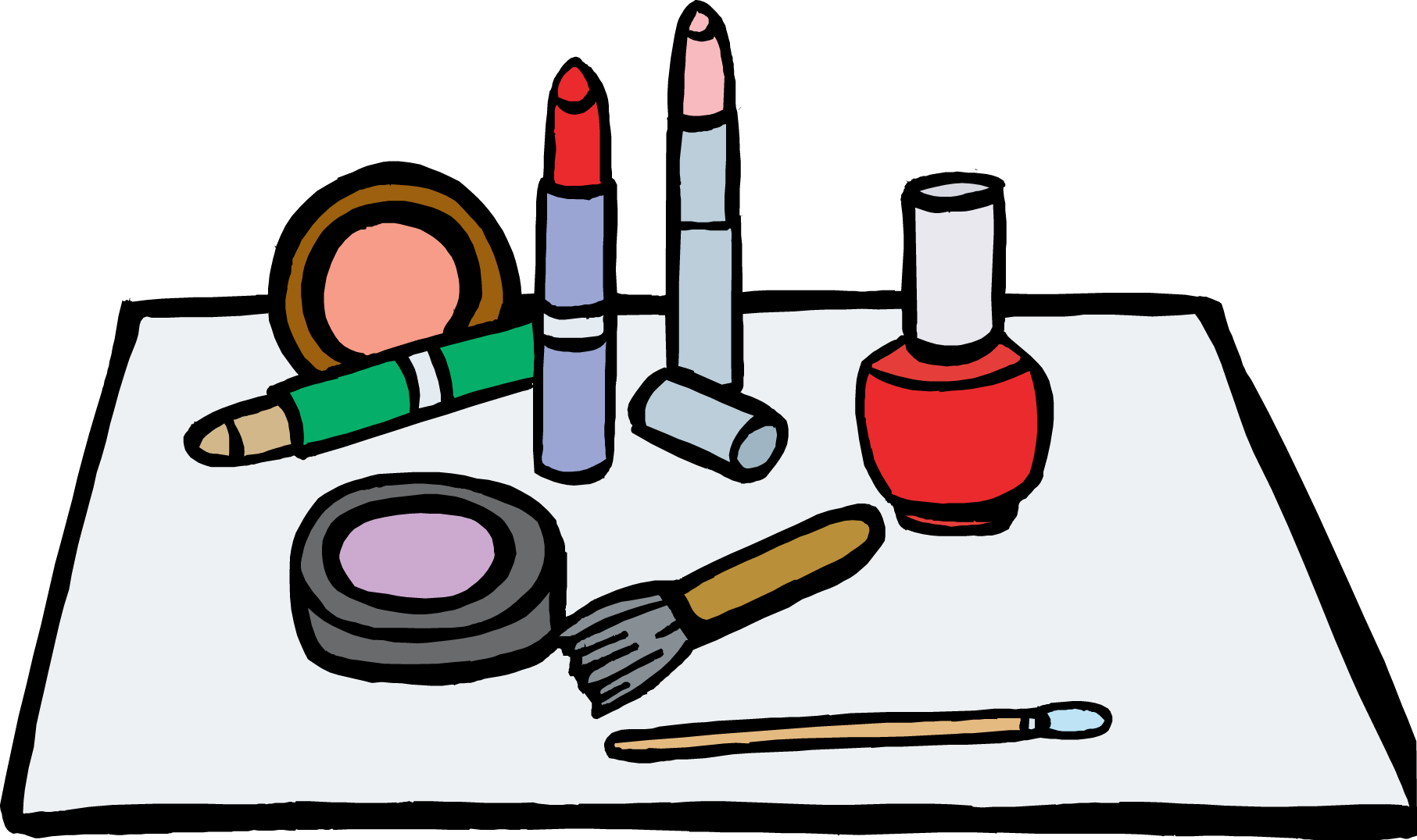 clip art makeup clipartsco