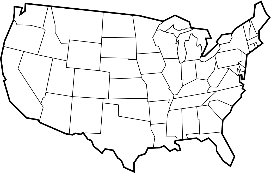 clip art map united states - photo #7