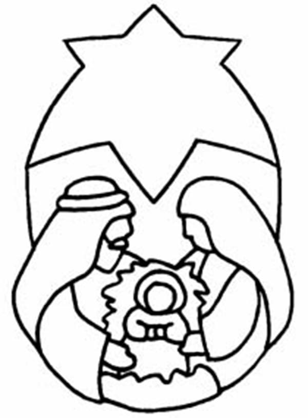 Jesus Nativity Coloring Pages