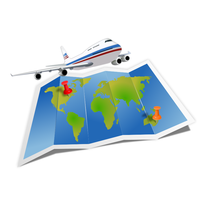 Clipart - Travel Map