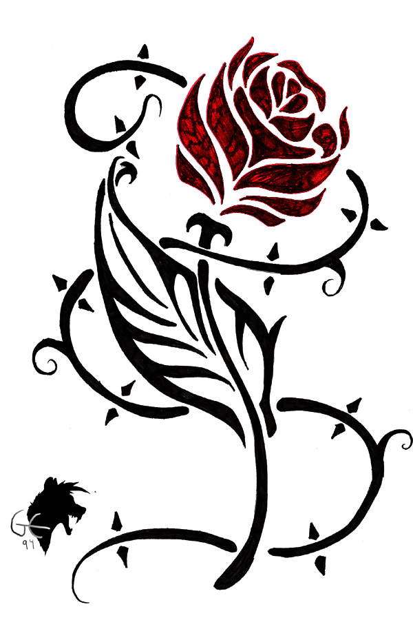 Heart And Flower Tattoos - Cliparts.co
