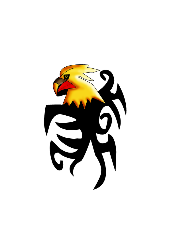 Stunning Tribal Eagle Tattoo Design | Tattoobite.com