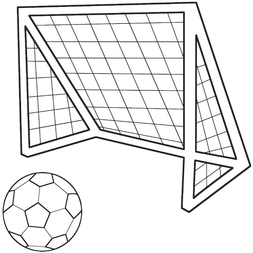 Line Drawing Net : Soccer goal drawing cliparts