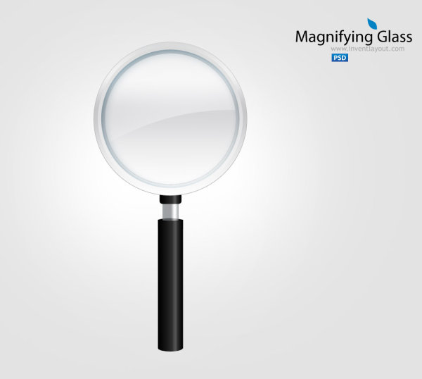 Magnifying glass icon - Icons PSD File free download