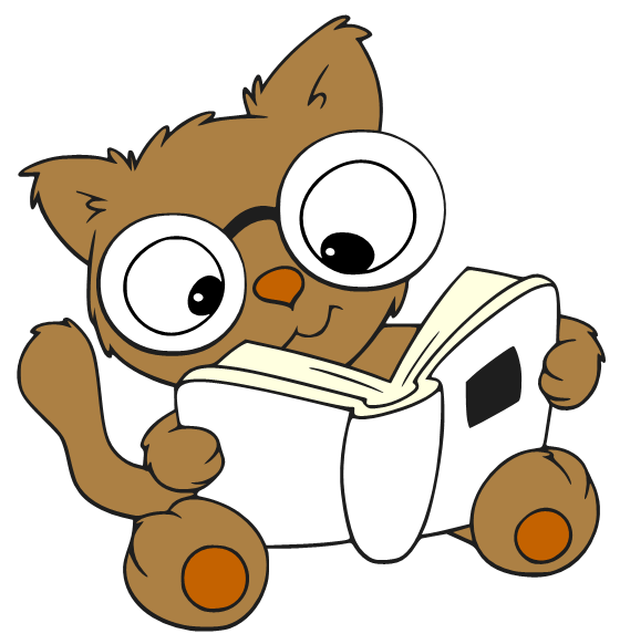 Cartoon Characters Reader : Reading cartoon pic cliparts