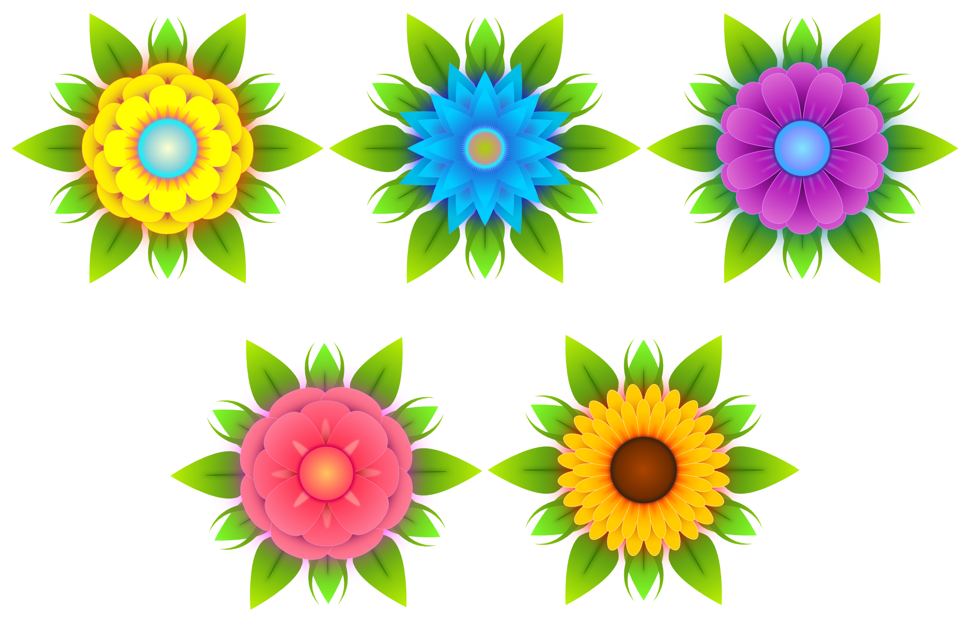 vector clipart flowers - photo #6