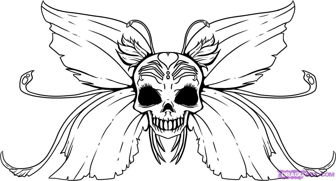Easy Cool Skull Drawings