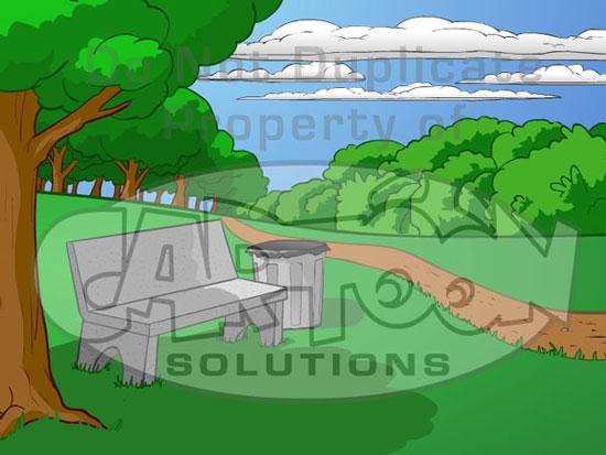 city park cartoon - photo #23