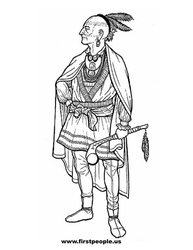 coloring pages indian chief - photo#22