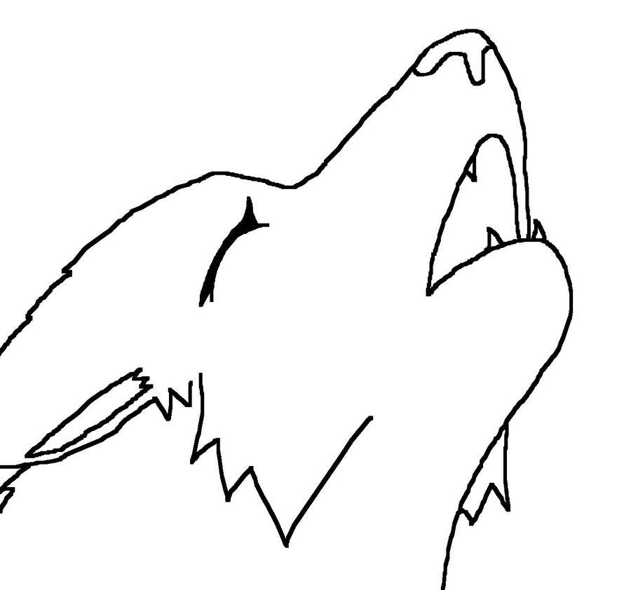 Cartoon wolf howling drawings - photo#15