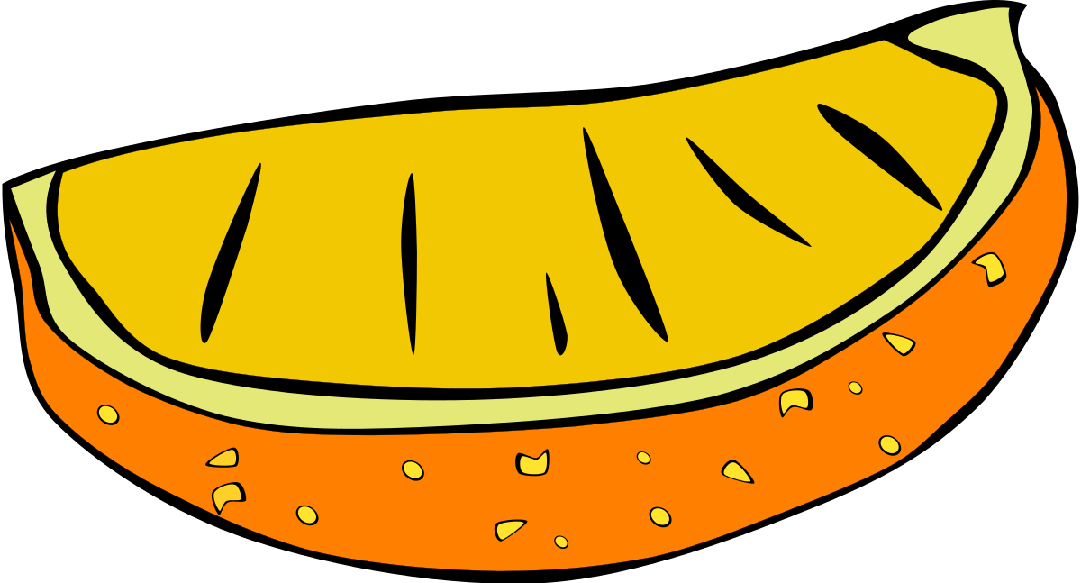 Fast Food, Snack, Orange Slice Clipart by Gerald_G : Food Cliparts ...