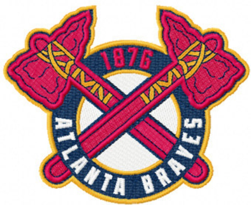 Atlanta Braves Tomahawks Logo Baseball Machine Embroidery Design ...