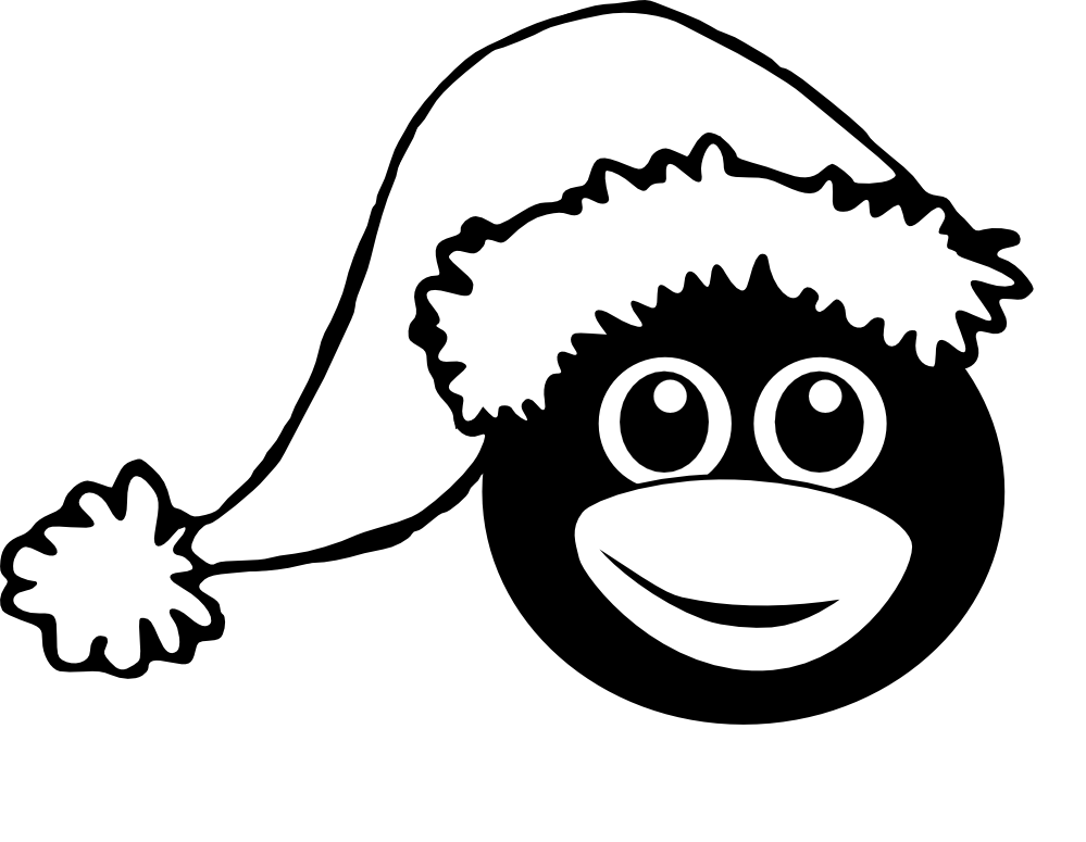 Christmas Penguin Clipart Black And White | Clipart Panda - Free ...