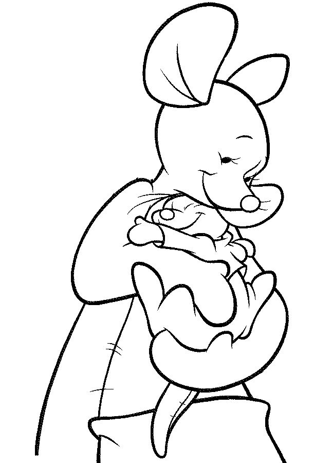 baby pooh clipart coloring pages - photo#12
