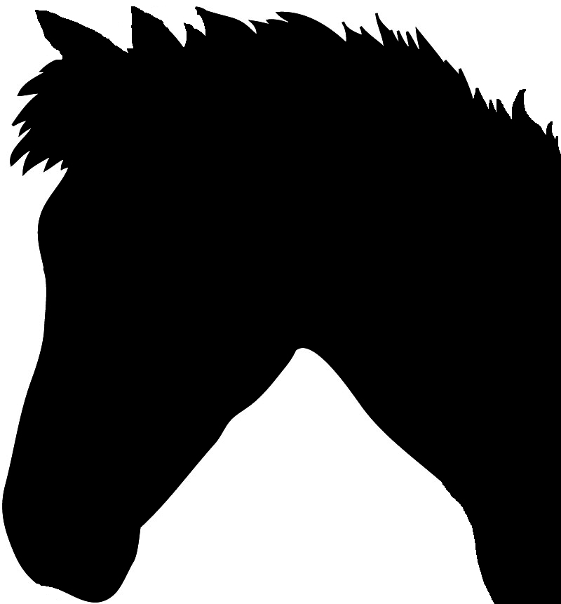Gallery For > Horse Head Silhouette Clip Art