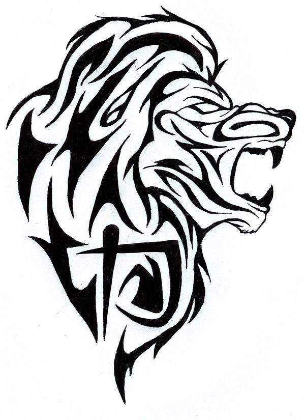 Lion art tribal
