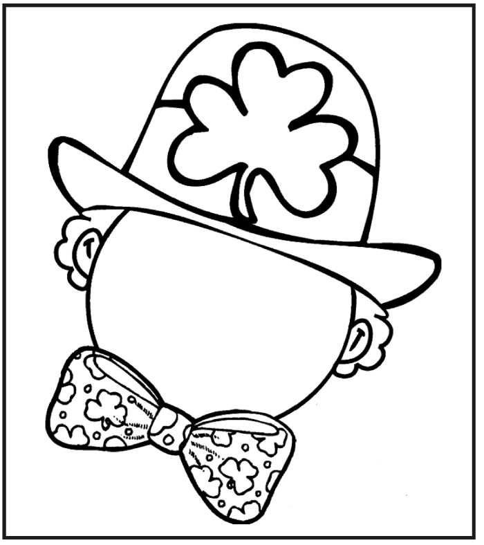 coloring page st patricks day draw face leprechaun st patrick 39 s