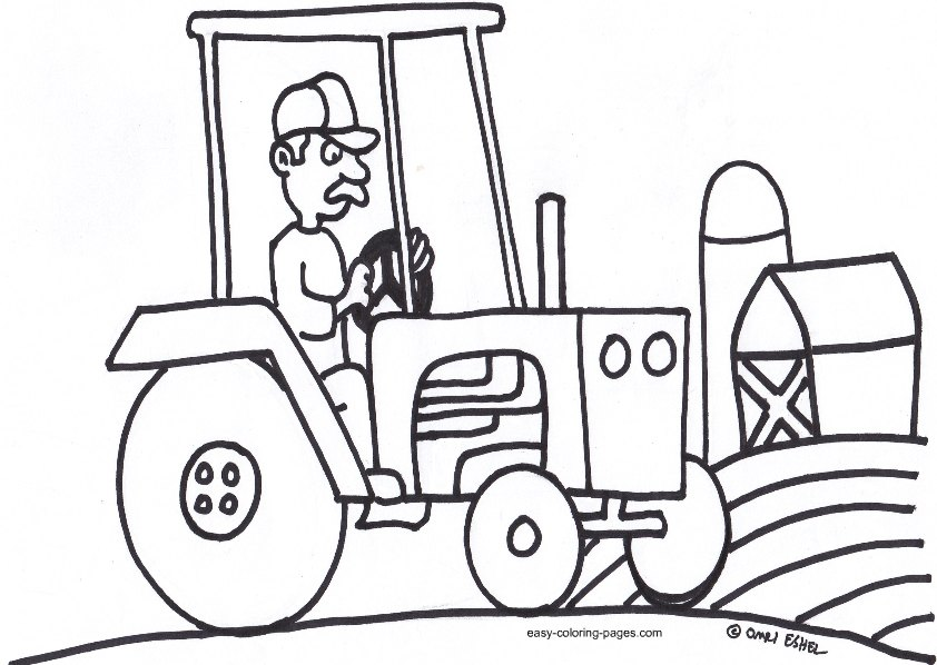 Line Drawing Tractor : Truck drawings for kids cliparts