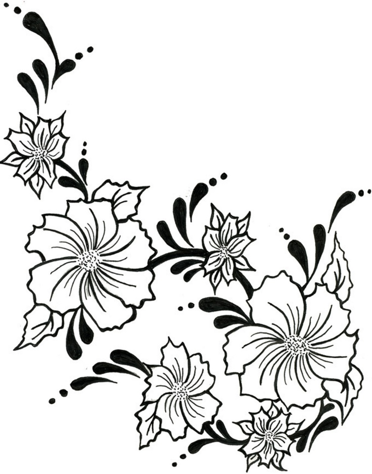Pictures Of Flower Drawings Clipartsco