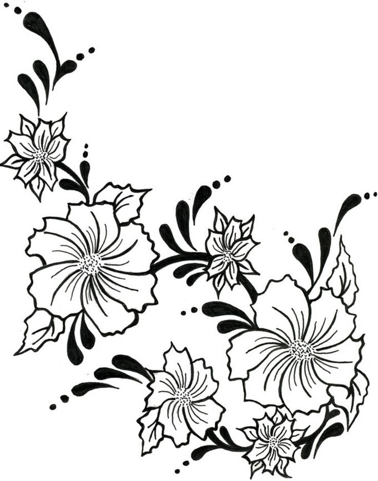 Easy Drawings Of Flowers And Vines Rose Vine Drawings - C...