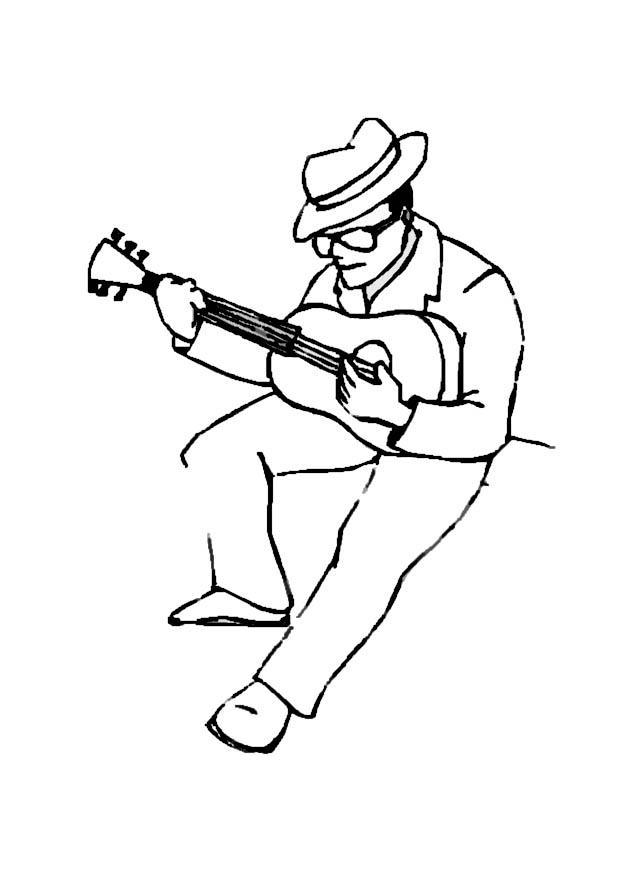 coloring page guitar player img 8718 cliparts co Shrek Coloring Pages  Guitar Player Coloring Page