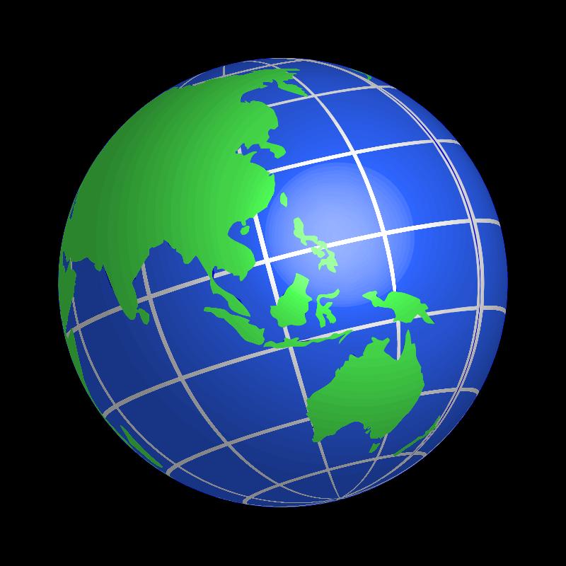 Clipart - Oceania World Globe - Cliparts.co