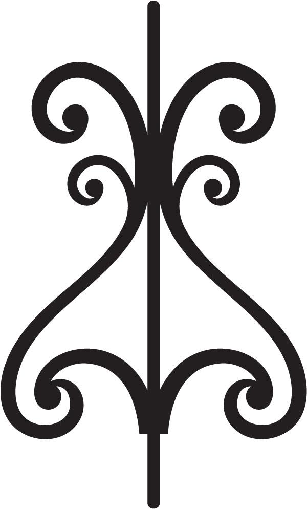 Decorative scroll clip art for Decorative scrollwork