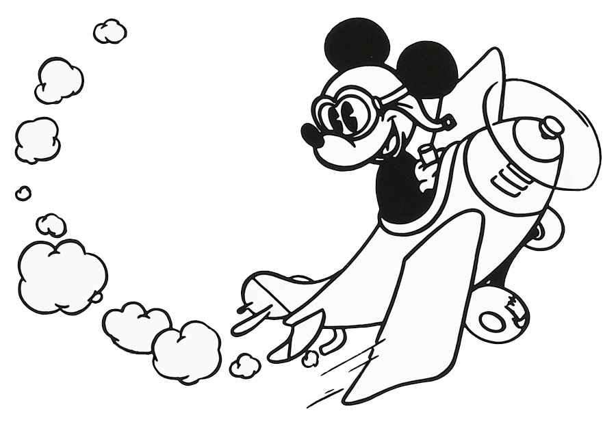 Baby Mickey Mouse Clipart Black And White | Clipart Panda - Free ...