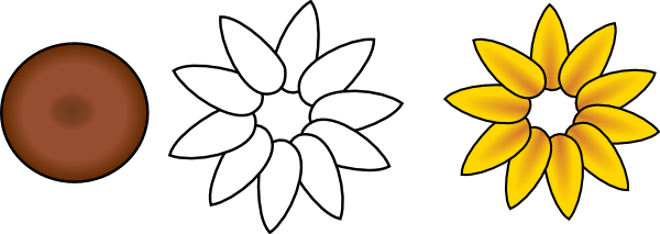 sunflower template cliparts co