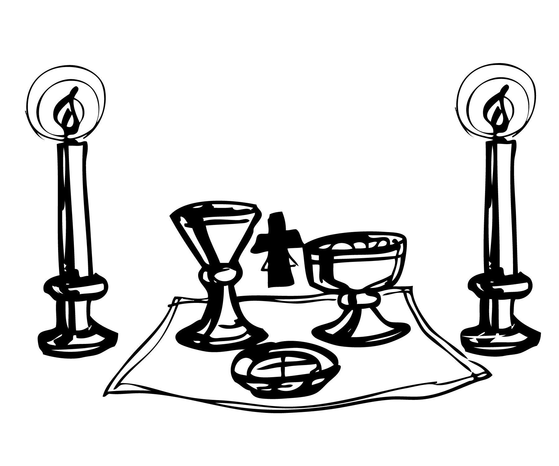 Eucharist Clipart Black And White - Floral delivery