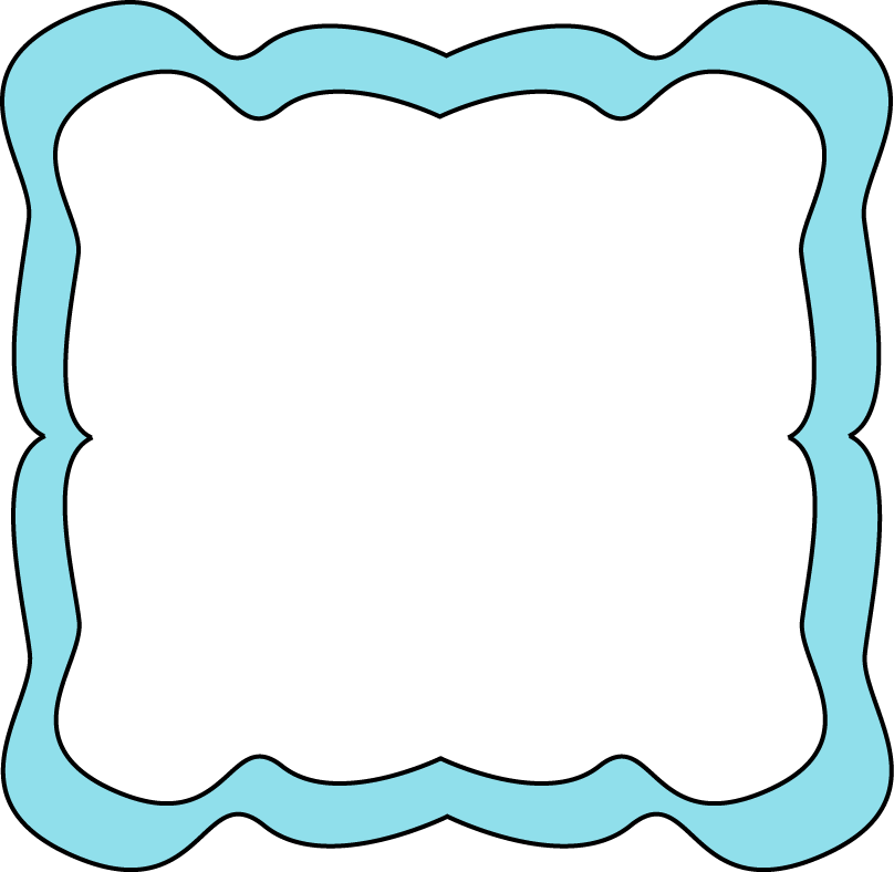 Baby Blue Border Clipart