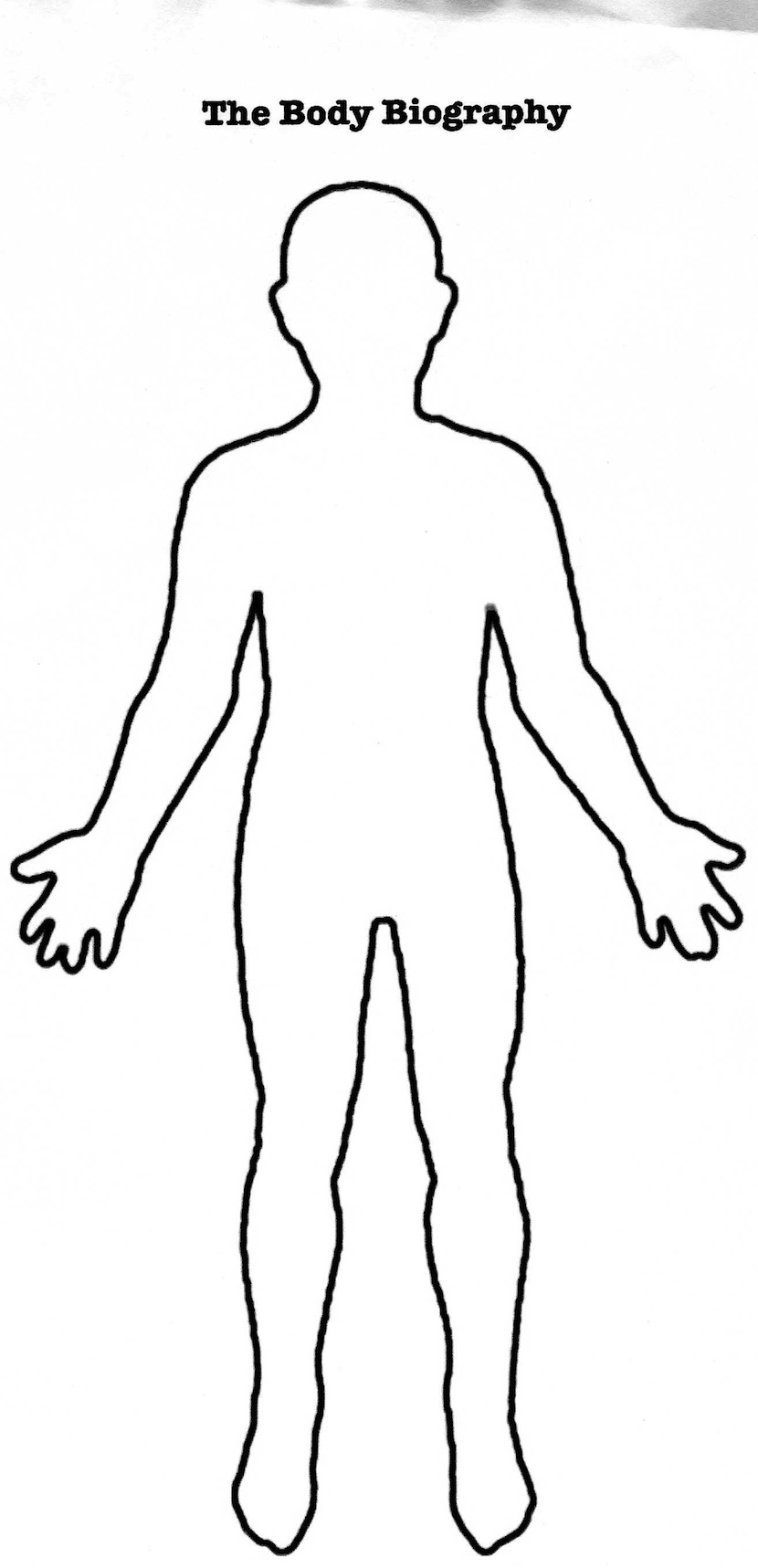 outline of human body printable