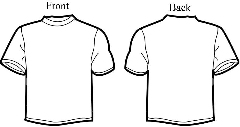 Line Art Jersey : T shirt outline template cliparts