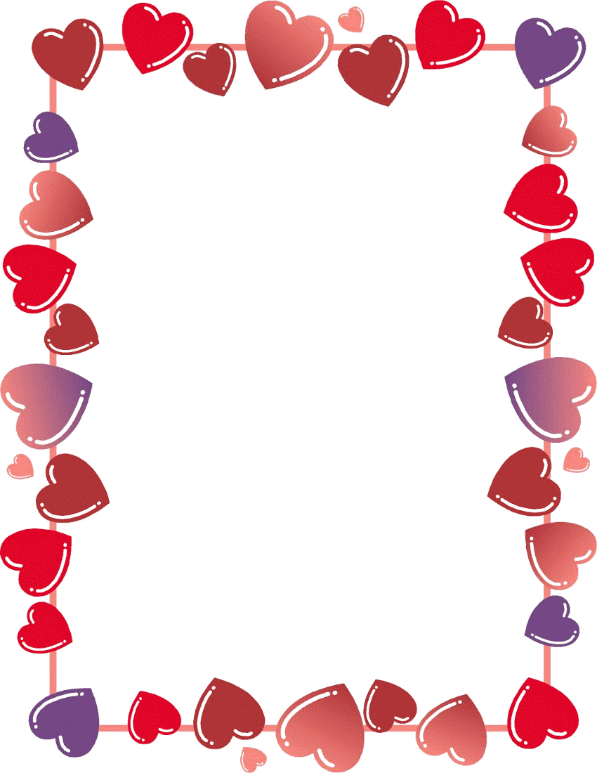 Hearts And Flowers Border - Cliparts.co