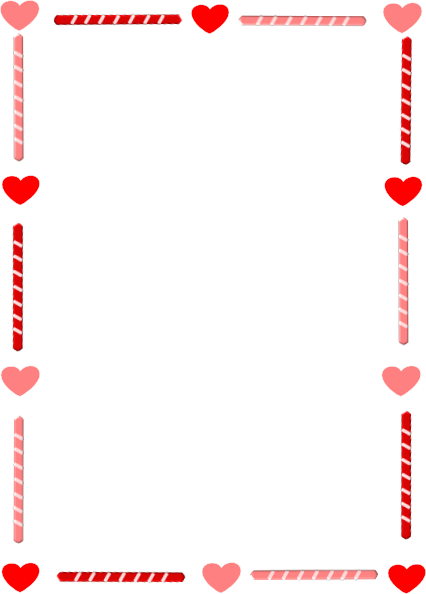 Valentine's Day Border Clipart Valentines Day Heart Candy Png