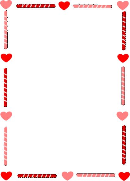 Außergewöhnlich Valentineu0027s Day Border Clipart #1
