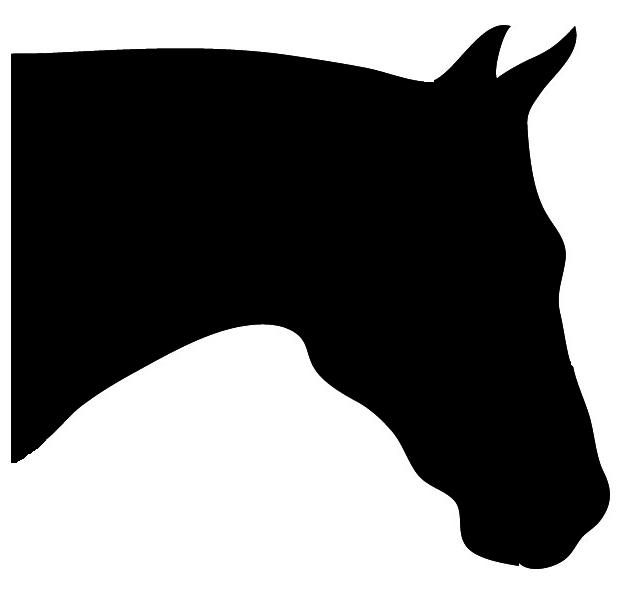 quarter horse head clip art
