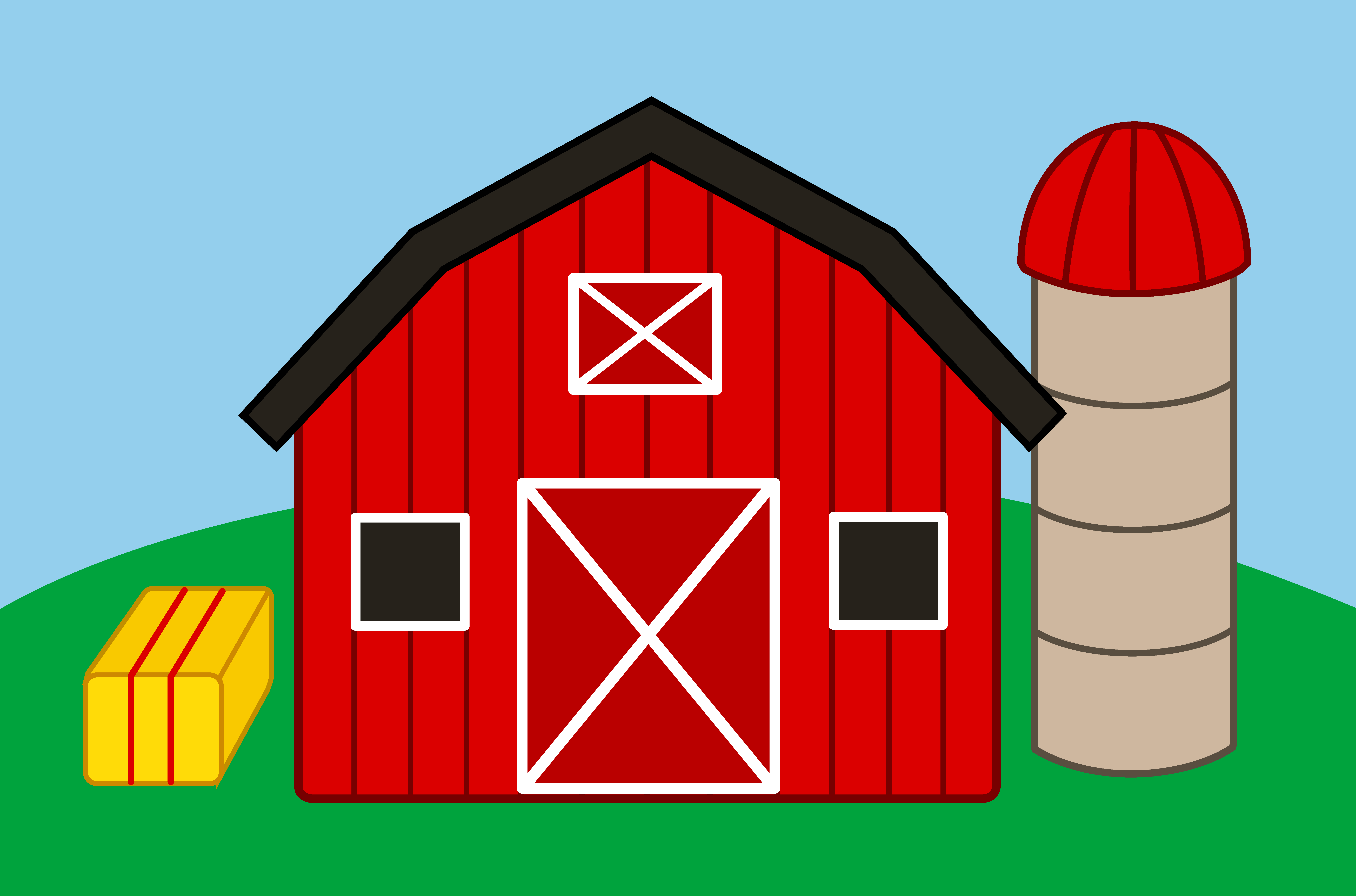 cartoon farm house