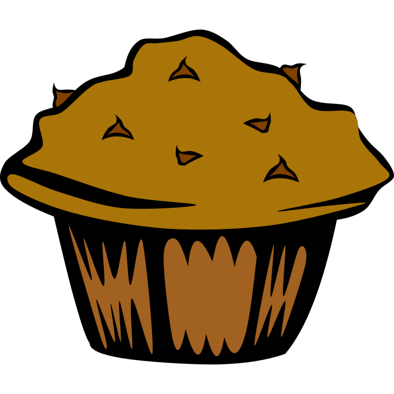 Clipart - Fast Food, Breakfast, Muffin, Chocolate