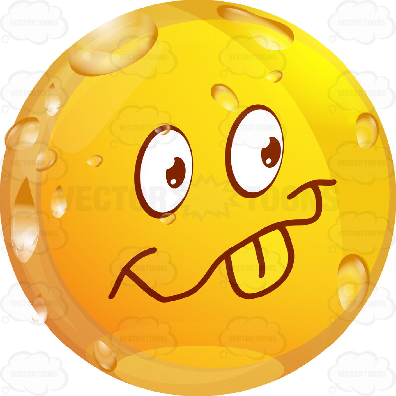 Playful Wet Yellow Smiley Face Emoticon Sticking Out Tongue, Smile ...