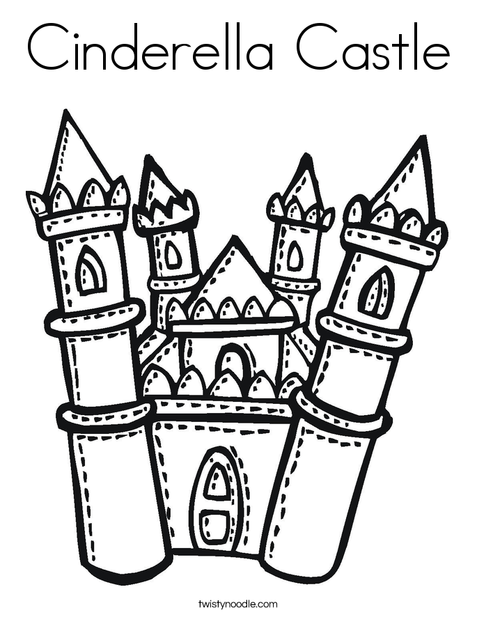 Disney Castle coloring page | Free Printable Coloring Pages | 886x685